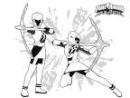 Coloriages Power Rangers Ninja Steel