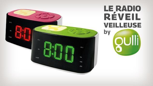 Le Radio Réveil Veilleuse by Gulli