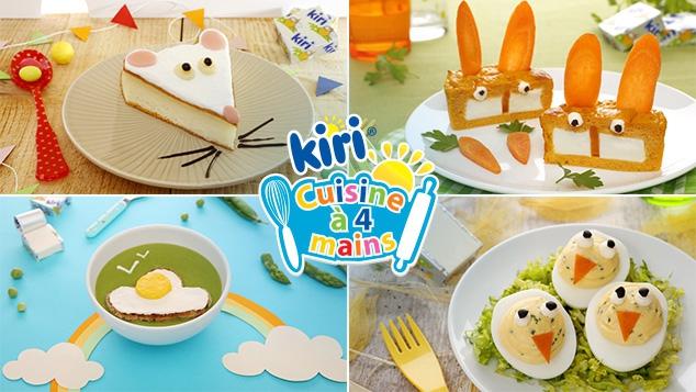 Nouvelles recettes Kiri ® Cuisine à 4 mains sur gulli.fr