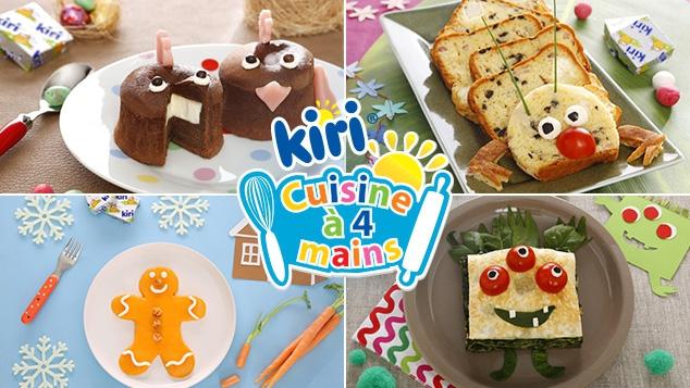 Découvre de nouvelles recettes Kiri ® Cuisine à 4 mains !