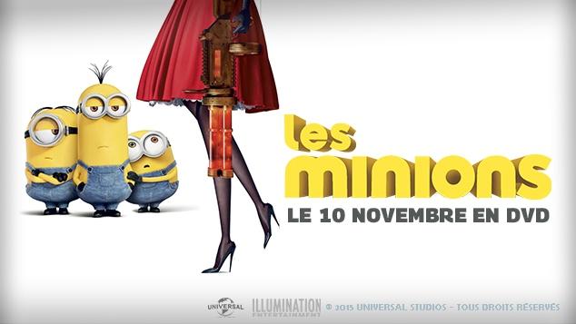 Les Minions débarquent le 10 novembre en DVD !