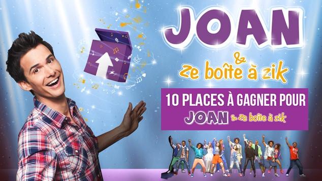 Gagne tes places pour le spectacle musical Joan & ze boîte à zik
