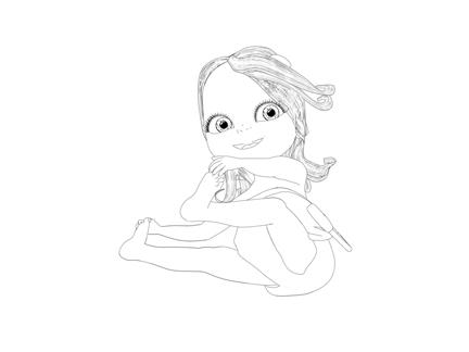 Coloriage de Bébé Lilly (5)