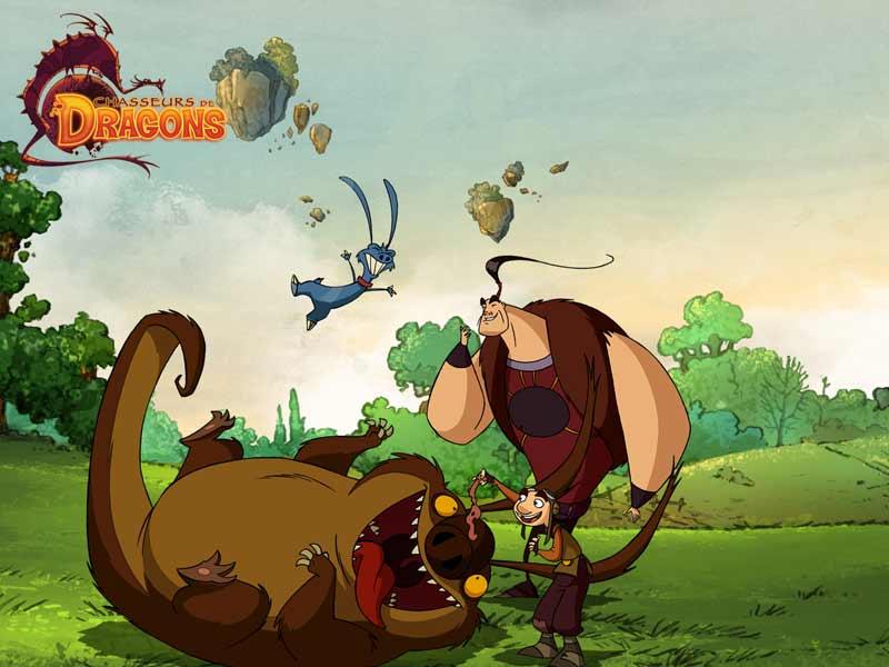 Chasseurs de dragons (3) - Fonds d'écran - Goodies - Chasseurs de dragons - Dessins animés - La télé