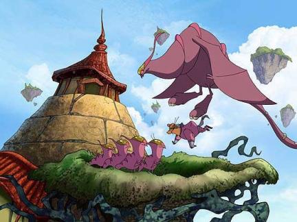 £owcy smoków /  Dragon Hunters (2004)  PL.TVRip.XviD  /  Dubbing PL *dla EXSite.pl*