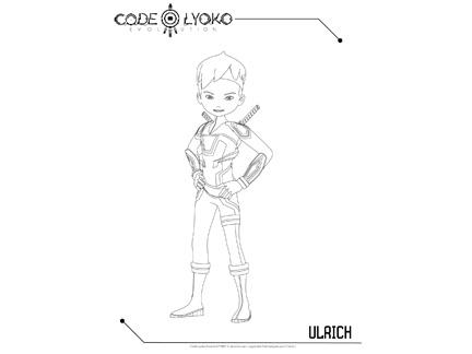 Ulrich coloriages goodies code lyoko evolution - Coloriage de code lyoko ...