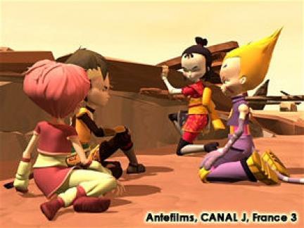 Yumi, Aelita, Odd et Ulrich