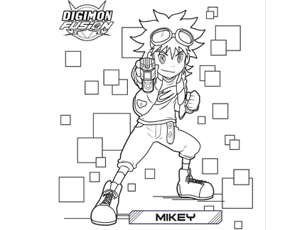 Coloriage Mikey