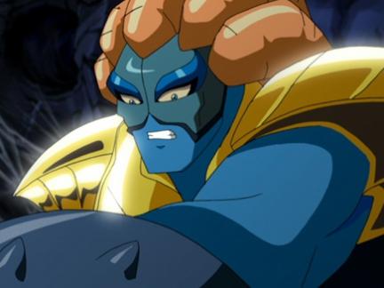 Le Seigneur de l'Eau en armure d'or- Gormiti