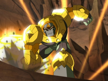 Le Seigneur de la Forêt en armure d'or- Gormiti