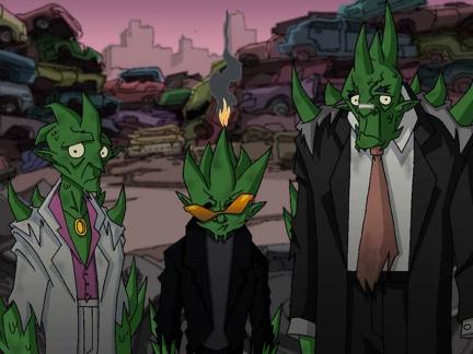 Monstres verts