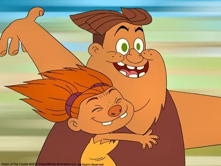 Grug et sa fille Sandy