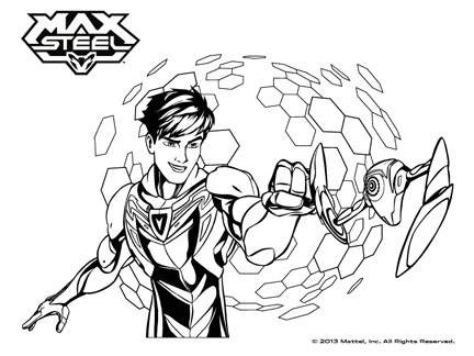 Coloriage Max Steel