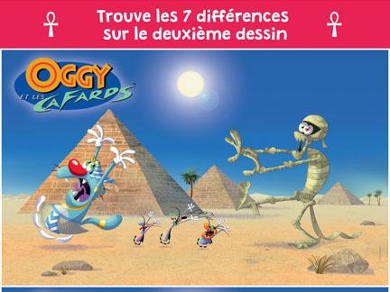 Activité - Oggy est en Egypte