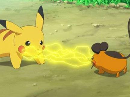 Pikachu et dedenne sacha et pikachu images pok mon - Pikachu dessin anime ...