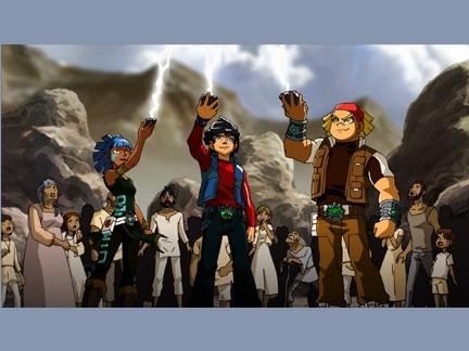 Ky, Boomer et Maya reçoivent de l'énergie Kairu.