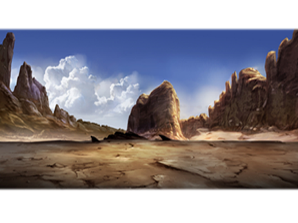 Paysage désert rocheux
