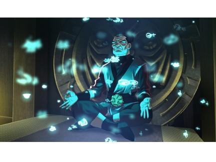 Maître Baoddai en pleine méditation
