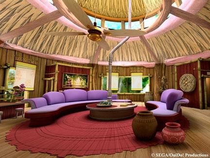 L'intérieur de la maison d'Amy Rose