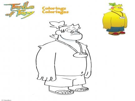 Coloriages Trolls de Troy