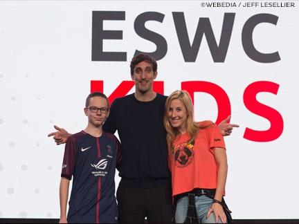 Sur la grande scène ESWC KIDS