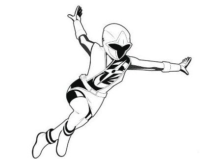 Coloriage Ninja Steel Rouge Garyskids