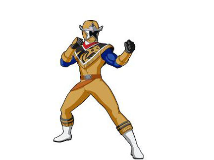 Beautiful Aiden Le Ranger Dore Ninja Steel Personnages Power