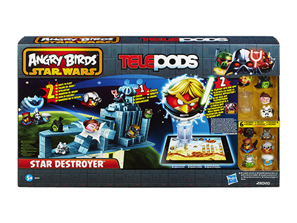 Star wars angry birds le croiseur de l 39 empire telepods jeux gar on d tails la - Angry birds noel ...