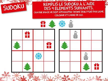 sudoku jeux goodies le p re no l cin zoom. Black Bedroom Furniture Sets. Home Design Ideas