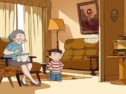 Jean et sa grand mère