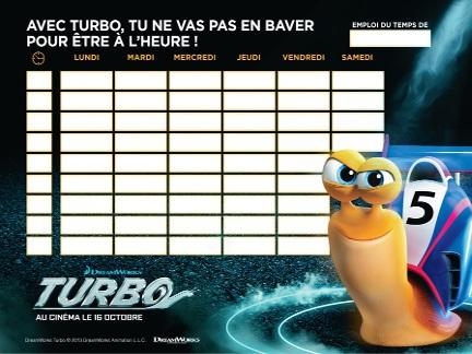 Turbo emploi du temps