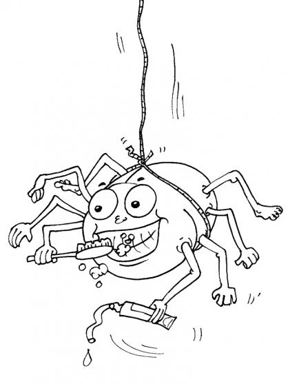 Coloriage Araignée 21