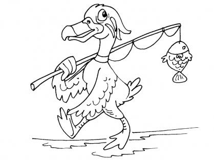 Coloriage Canard 22