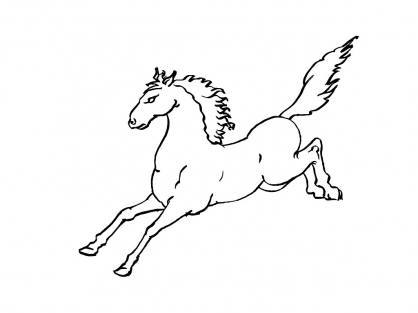 Coloriage Cheval 1