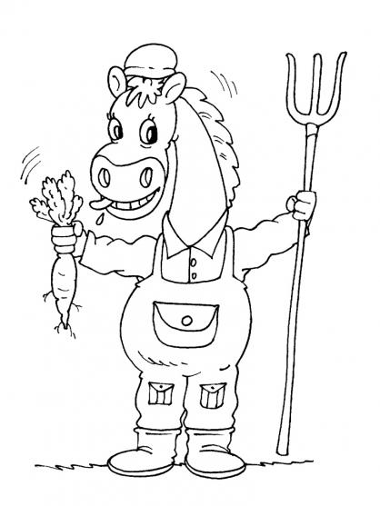 Coloriage cheval 18 coloriage chevaux coloriage animaux - Coloriage chevaux ...