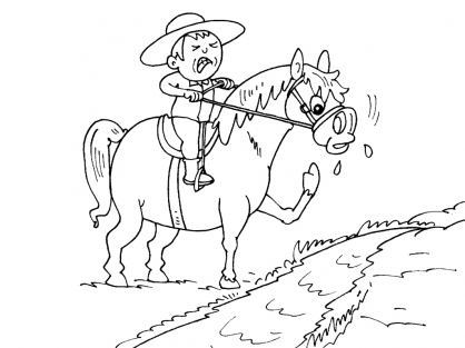Coloriage Cheval 26