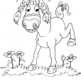 Coloriage Cheval 28