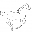 Coloriage Cheval 8
