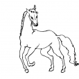 Coloriage Cheval 9