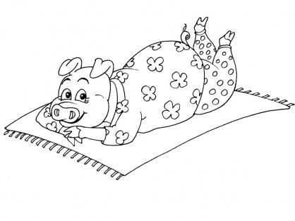 Coloriage Cochon 18