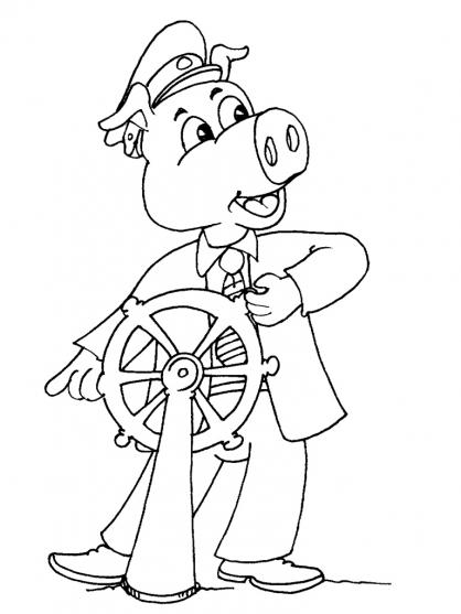 Coloriage cochon 23 coloriage cochons coloriage animaux - Dessin d un cochon ...