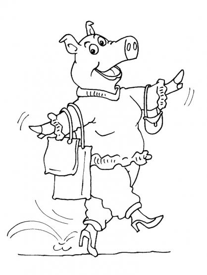 Coloriage Cochon 24