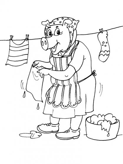 Coloriage Cochon 25