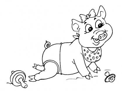 Coloriage Cochon 26