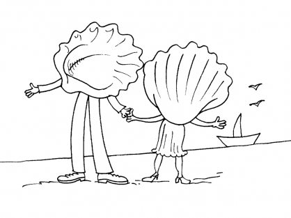 Coloriage Coquillage 28