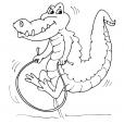 Coloriage Crocodile 19