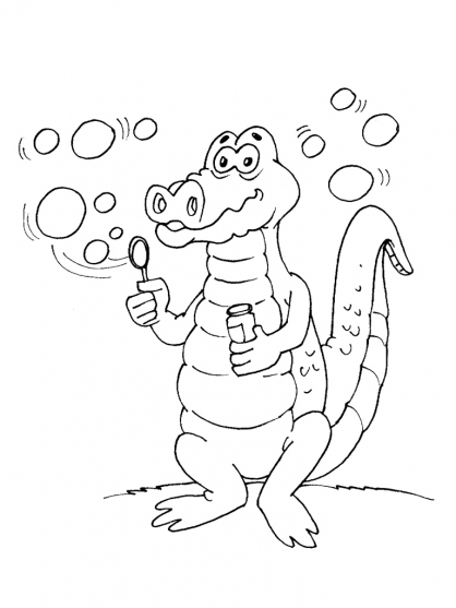 Coloriage Crocodile 21