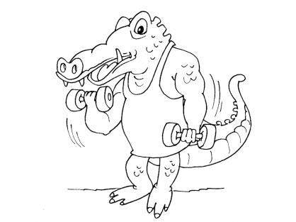 Coloriage Crocodile 22