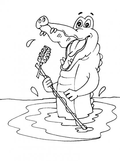 Coloriage Crocodile 24