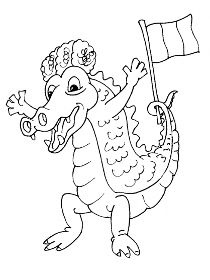 Coloriage Crocodile 28
